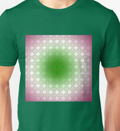 Green and pink floral pattern Unisex T-Shirt