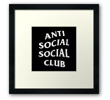 Anti Social Social Club Framed Print