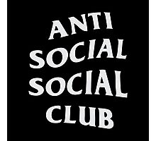Anti Social Social Club Photographic Print