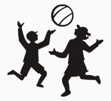 Kids playing with a ball Kids Tee