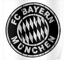 FC Bayern - white Poster