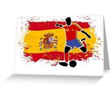 Soccer - Fußball - Spain Flag Greeting Card