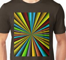 Colorful radial pattern Unisex T-Shirt