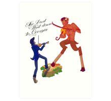 The Devil Went Down To Georgia Art Print