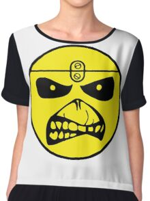 Iron Maiden Smiley Face Chiffon Top