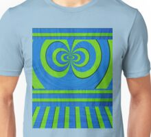 Blue and green lined pattern Unisex T-Shirt