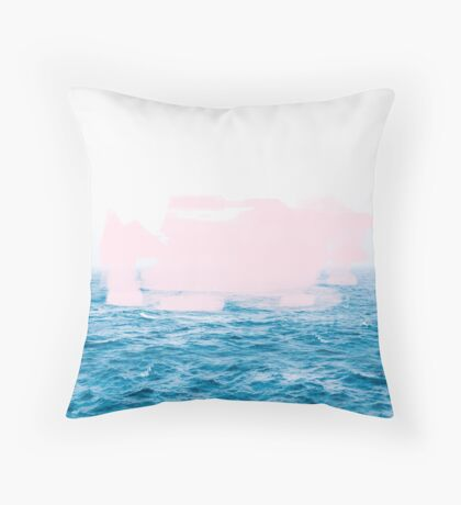 Ocean _ Pink #redbubble #lifestyle Throw Pillow
