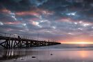 Pier at Sunset by Karine Radcliffe