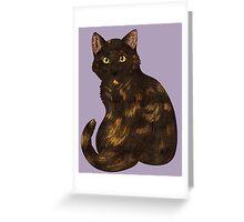 Tortie Cat Greeting Card