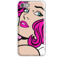 Seductive Girl - Roy Lichtenstein Pop Art (Pink) iPhone Case/Skin