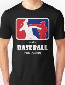 The Punch make baseball fun again white T-Shirt