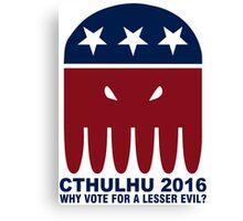 Vote Cthulhu Squid 2016 Canvas Print