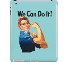 watercoloue we can Rosie the Riveter iPad Case/Skin