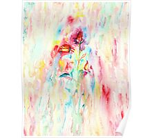 Floral Abstract II Poster