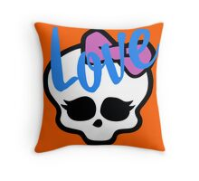 Love Sucks Pop Art Girl Skull w/ Ribbon (Love) Throw Pillow