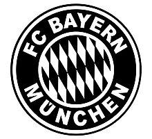 FC Bayern Munich Black Photographic Print