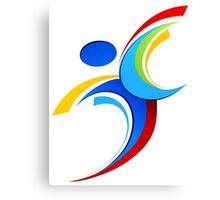 Sport logo design Canvas Print