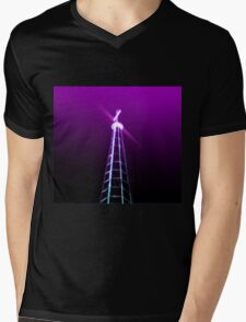 Digitally manipulated glowing image of a spire of church with a crucifix  T-Shirt