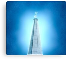 Digitally manipulated image of a spire of church with a crucifix  Canvas Print
