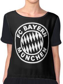 FC Bayern Munich Black Chiffon Top