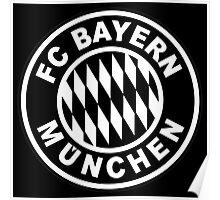 FC Bayern Munich Black Poster