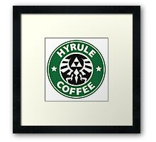 Hyrule zelda Coffee Framed Print