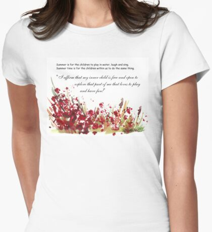 Affirmation for MY INNER CHILD Womens Fitted T-Shirt