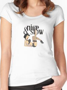 Nice& Slow Women's Fitted Scoop T-Shirt