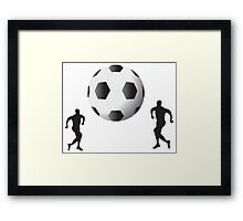 Football players and huge ball art Framed Print