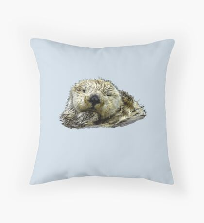 Sea Otter Who Me Surely not! Throw Pillow