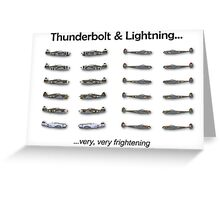 Thunderbolt & Lightning Greeting Card
