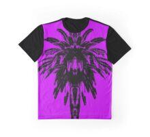 Palm Tree - Purple Sky Graphic T-Shirt