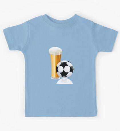 Football with beer Kids Tee