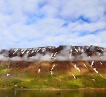 Islandic Cliffs and Sky Sticker
