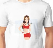 Fitness lady art Unisex T-Shirt
