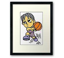 Basketball cartoon art Framed Print