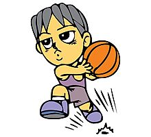 Basketball cartoon art Photographic Print