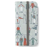vintage ski linen iPhone Wallet/Case/Skin