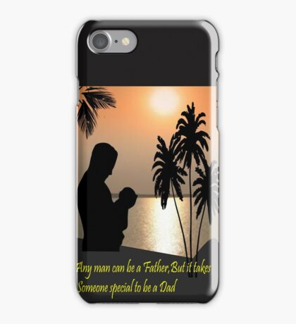Special message for my Dad (1297 Views) iPhone Case/Skin