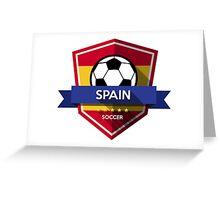 Creative soccer Spain Greeting Card