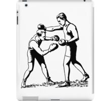 Olde time boxers classic boxing stances punching iPad Case/Skin