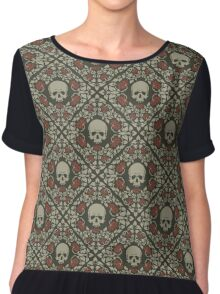 Skulls and roses Chiffon Top