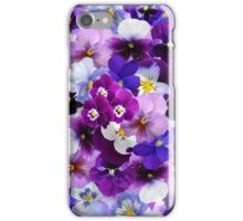 Beautiful Colorful Pansy Flowers Composition iPhone Case/Skin