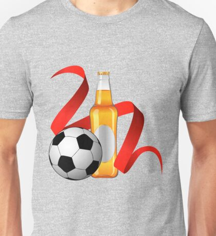 Beer with football design Unisex T-Shirt