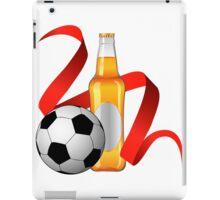 Beer with football design iPad Case/Skin