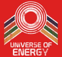 Universe of Energy Logo in Vintage Distressed Style Kids Tee