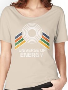 Universe of Energy Logo in Vintage Distressed Style Women's Relaxed Fit T-Shirt