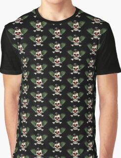Scary evil clown skull with bowler hat Graphic T-Shirt