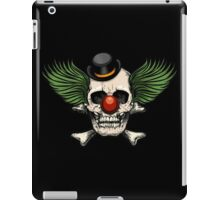 Scary evil clown skull with bowler hat iPad Case/Skin