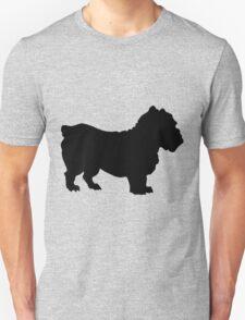 cute Bulldog silhouette Unisex T-Shirt